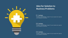 Idea For Solution To Business Problems Ppt Icon Structure PDF