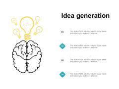 Idea Generation Bulb Innovation Ppt PowerPoint Presentation Styles Icon