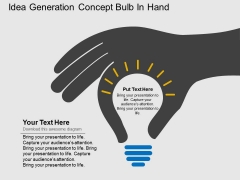 Idea Generation Concept Bulb In Hand Powerpoint Template