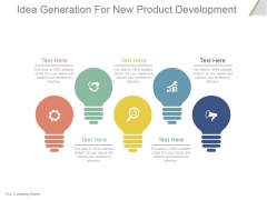 Idea Generation For New Product Development Ppt PowerPoint Presentation Influencers