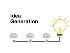Idea Generation Innovation Ppt PowerPoint Presentation Summary