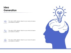 Idea Generation Ppt PowerPoint Presentation Gallery Slides