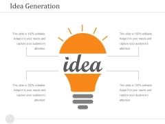 Idea Generation Ppt PowerPoint Presentation Ideas Images