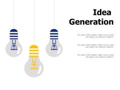 Idea Generation Ppt PowerPoint Presentation Inspiration Gallery