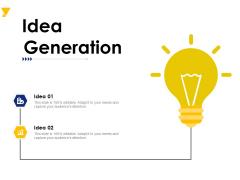 Idea Generation Ppt PowerPoint Presentation Model Pictures