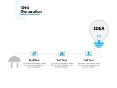 Idea Generation Ppt PowerPoint Presentation Pictures Structure