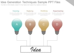 Idea Generation Techniques Sample Ppt Files