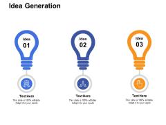 Idea Generation Technology Ppt PowerPoint Presentation Layouts Design Ideas