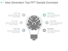 Idea Generation Tips Ppt PowerPoint Presentation Styles