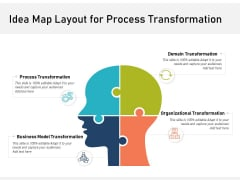 Idea Map Layout For Process Transformation Ppt PowerPoint Presentation Show Infographics PDF