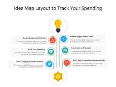 Idea Map Layout To Track Your Spending Ppt PowerPoint Presentation Infographic Template Elements PDF