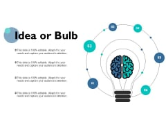 Idea Or Bulb Technology Marketing Ppt PowerPoint Presentation Model Infographics