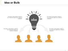 Idea Or Bulb Technology Ppt PowerPoint Presentation Gallery Demonstration