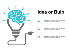Idea Or Bulb Technology Ppt PowerPoint Presentation Gallery Visual Aids