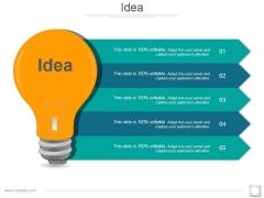Idea Ppt PowerPoint Presentation Icon Master Slide