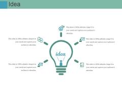 Idea Ppt PowerPoint Presentation Visual Aids Files