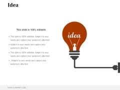 Idea Ppt PowerPoint Presentation Visual Aids