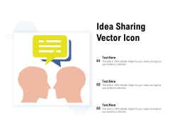 Idea Sharing Vector Icon Ppt PowerPoint Presentation Show Professional