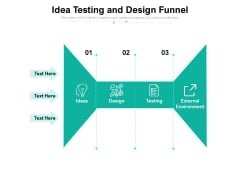 Idea Testing And Design Funnel Ppt PowerPoint Presentation Icon Portrait PDF