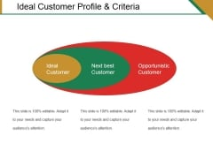 Ideal Customer Profile And Criteria Ppt PowerPoint Presentation Portfolio Deck