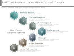 Ideal Website Management Services Sample Diagram Ppt Images