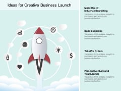 Ideas For Creative Business Launch Ppt PowerPoint Presentation Pictures Slides