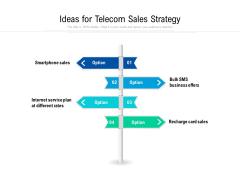 Ideas For Telecom Sales Strategy Ppt PowerPoint Presentation File Design Ideas PDF