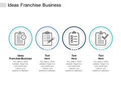 Ideas Franchise Business Ppt PowerPoint Presentation File Deck Cpb