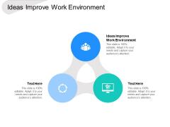 Ideas Improve Work Environment Ppt PowerPoint Presentation Show Maker Cpb