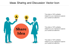 Ideas Sharing And Discussion Vector Icon Ppt PowerPoint Presentation Portfolio Introduction PDF