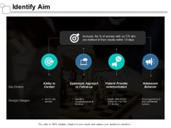 Identify Aim Ppt Powerpoint Presentation Diagram Ppt