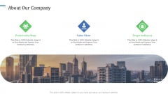 Identify Capital Structure Of Firm About Our Company Portrait PDF