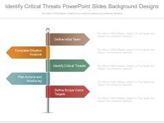 Identify Critical Threats Powerpoint Slides Background Designs