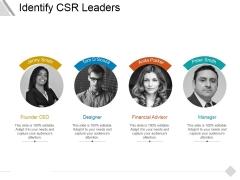 Identify Csr Leaders Ppt PowerPoint Presentation Inspiration Slides