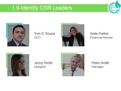 Identify Csr Leaders Ppt PowerPoint Presentation Pictures