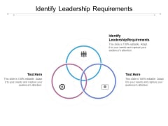 Identify Leadership Requirements Ppt PowerPoint Presentation Infographics Graphics Pictures Cpb