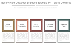 Identify Right Customer Segments Example Ppt Slides Download