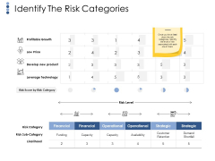 Identify The Risk Categories Ppt PowerPoint Presentation Styles Samples