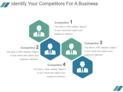 Identify Your Competitors For A Business Ppt PowerPoint Presentation Slide