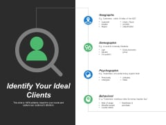 Identify Your Ideal Clients Ppt PowerPoint Presentation File Topics