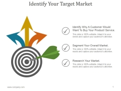 Identify Your Target Market Ppt PowerPoint Presentation Gallery