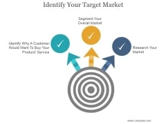 Identify Your Target Market Ppt PowerPoint Presentation Graphics