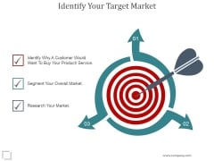 Identify Your Target Market Ppt PowerPoint Presentation Topics