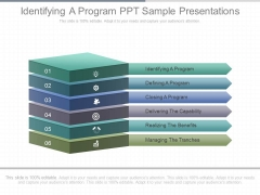 Identifying A Program Ppt Sample Presentations