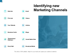 Identifying New Marketing Channels Ppt PowerPoint Presentation Inspiration Portfolio