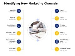 Identifying New Marketing Channels Ppt PowerPoint Presentation Outline Show