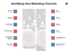Identifying New Marketing Channels Ppt PowerPoint Presentation Slides Backgrounds