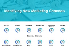 Identifying New Marketing Channels Ppt PowerPoint Presentation Styles Templates