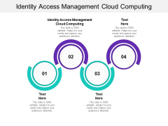 Identity Access Management Cloud Computing Ppt PowerPoint Presentation Infographic Template Slide Cpb