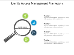 Identity Access Management Framework Ppt PowerPoint Presentation Portfolio Summary Cpb